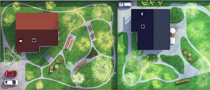 планировки загородного земельного участка